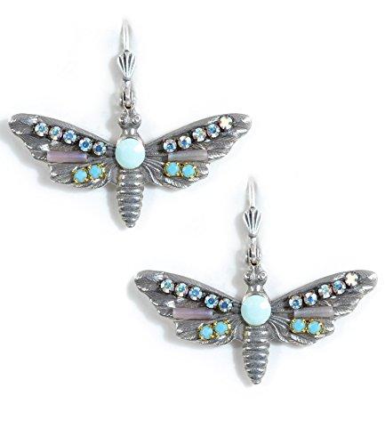 Clara Beau MultiColor Butterfly Swarovski Glass Crystal Mosaic SilverTone Earrings (Homemade Butterfly Costume)