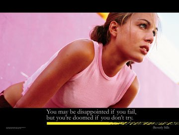 If You Don't Try Female Athlete �Motivational Poster
