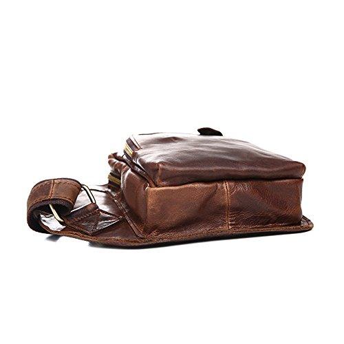 Ybriefbag for Pack Women Outdoor Utility Mens Shoulder Bags Vintage Men Bag Messenger Sports Chest Sling Backpack Crossbody Genuine Leather rgqRrw