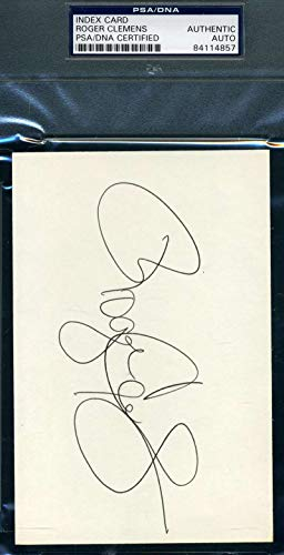 ROGER CLEMENS PSA DNA COA Autograph 4x6 Signed Index Card