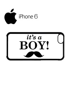 It is a Boy New Baby Maternity Swag Mobile Phone Case Back Cover Funda Negro Blanc Para iPhone 6 Black
