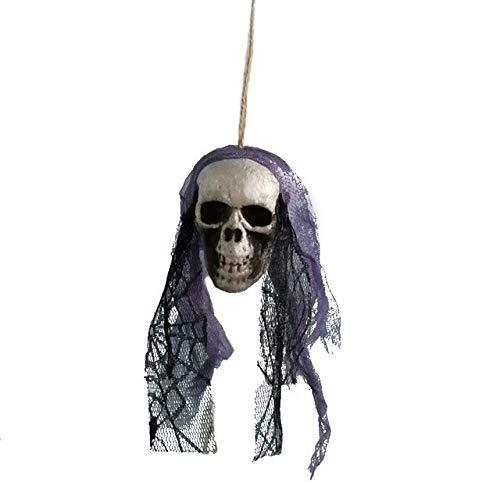 4 Pack, DIY Artificial Foam Skull Bride Clothes Halloween Decor Bone Head Hanging Home Decorations Festival Party Supplies -