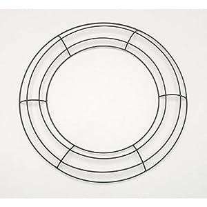 Darice Bulk Buy DIY Crafts Metal Wreath Form Green 12 inches (10-Pack) 170130 25