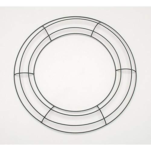 Darice Bulk Buy DIY Crafts Metal Wreath Form Green 12 inches (10-Pack) ()