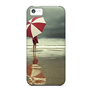 Hot Design Premium GOfzAQb1336jknqx Tpu Case Cover Iphone 5c Protection Case(umbrella At The Beach)