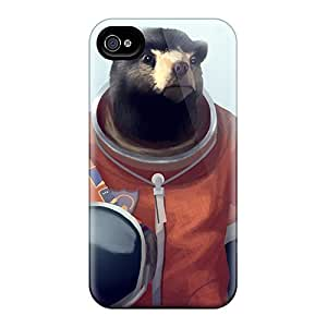 Iphone High Quality Tpu Case/ Panda Bears Cosmonaut UjSWV5728iPrcP Case Cover For Iphone 4/4s