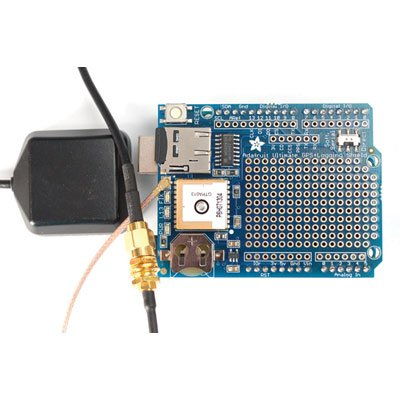Adafruit Ultimate GPS Logger Shield - Includes GPS Module - Removable Microsd
