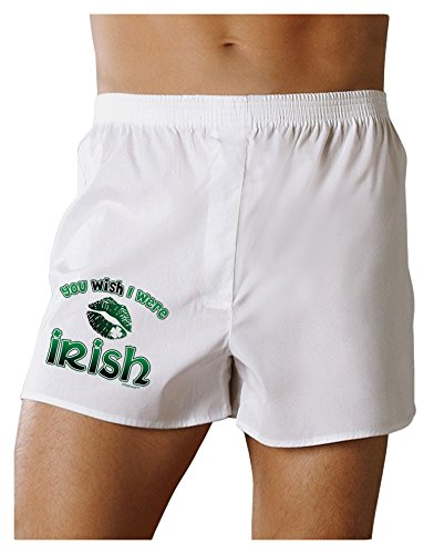 TooLoud You Wish I were Irish Boxers Shorts - White - 2XL