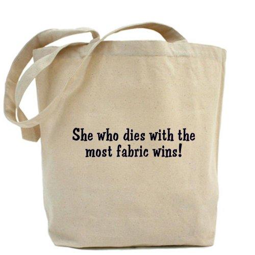 CafePress Quilters cita–Gamuza de bolsa de lona bolsa, bolsa de la compra, diseño