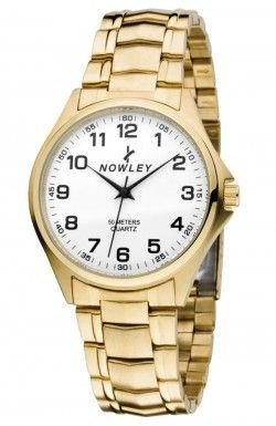Nowley 8-2655-0-0, Reloj de Hombre, Pvd dorado.