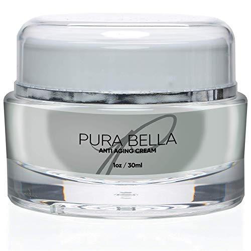 Pura Bella Anti Aging Cream-Boosts Collagen & Elastin Production, Eliminates Wrinkles & Fine Lines, Diminishes Crow's Feet & Dark Spot, Improves Skin Hydration & Suppleness-Most Effective Face Moisturizer Product on Amazon