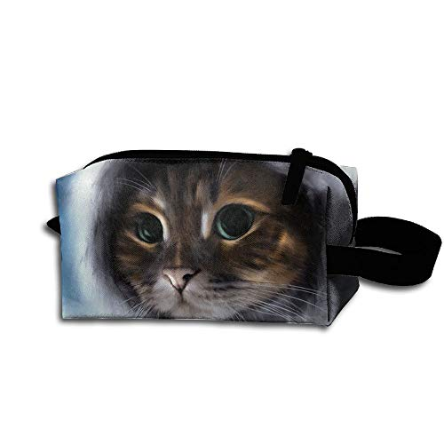 Makeup Cosmetic Bag Animals Cat Painting Medicine Bag Zip Travel Portable Storage Pouch For Mens Womens by Homlife