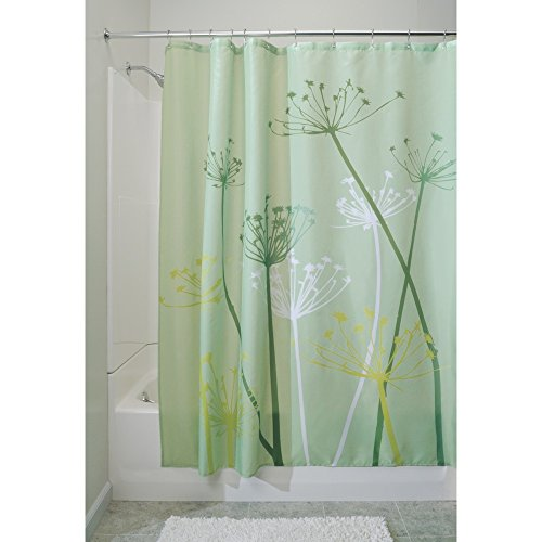 Shower Curtain, Standard - Green (Contemporary Curtain Fabric)
