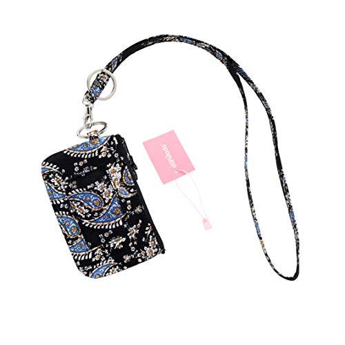 dandodo Card Holder ID Case Badge Neck Strap Lanyard (015Black)