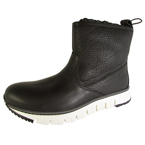 Cole Haan Mens Zerogrand Pull On Waterproof Boot Shoe, Black Leather, US 8.5