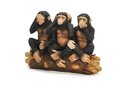 (Sunny toys 12703 Polyresin Monkey Figurine in Gandhi's Three Monkeys Design Approximately 14 cm)