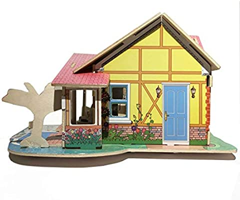 Simple 3d Wooden Puzzle Doll House Model Diy Handcraft