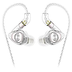 SIMGOT EM2 High-Res in-Ear Monitor Headphones with 1BA+1DD Hybrid Balanced Armature Driver, Noise-Isolating IEM…