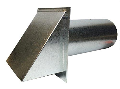 Deluxe Dryer Vent, Steel with Magnetic Damper (Steel) by Luxury Metals
