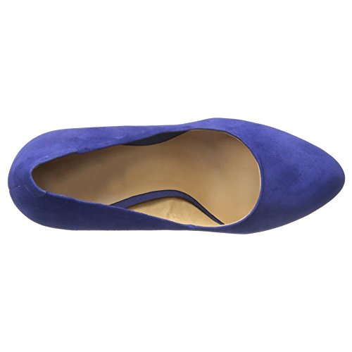 MERUMOTE - Zapatos de vestir para mujer Blau-Faux Wildleder