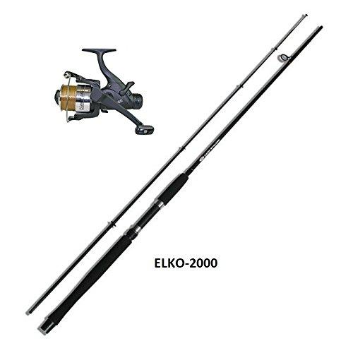 Carpa de pesca 1 caña 3,60 m, 1 carrete de pesca incluye cuerda Karpfenset NGT ELKO-KR-1