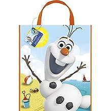 "Large Plastic Disney Frozen Olaf Loot Bag, 13"" x 11"""