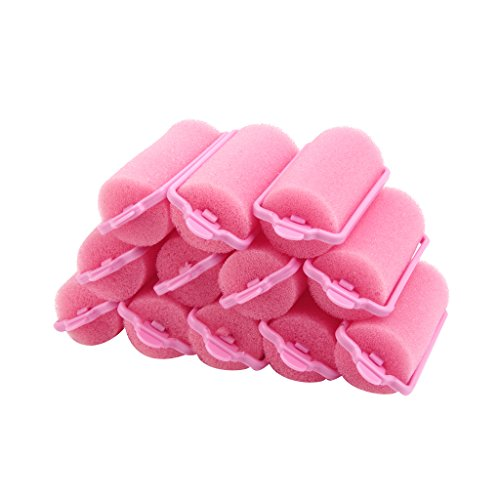 12pcs Popular Soft Sponge Hair Curler Rollers Cushion Random Color