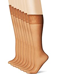 Women's Plus-Size Everyday Knee High Sheer Toe, Pack Of 8