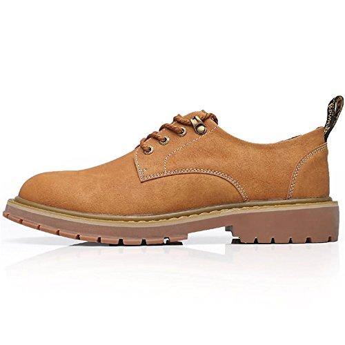 Jialun Jaune À Et 5mus Hommes Pour color Taille 8 Simples Kaki des Chaussures Plats Lacets Quotidiens Talons Mocassins rfTrqA