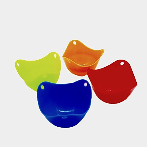 Silicone Egg Rings Non Stick, Pancake Mold (4) + Silicone Egg Poacher Cups (4) + Silicone Spatula (1) + Silicone Spoon Holder (1), Comfortable, easy to clean, non-toxic, BPA Free, SET 10 by Twinslyd (Image #2)