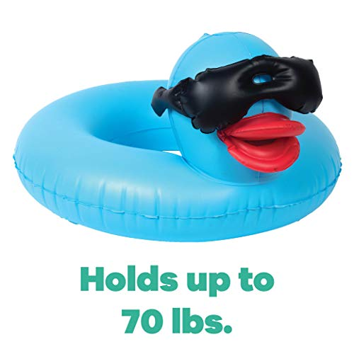 GAME 51817-BB Derby Duck Children Ring, 3 Pack, Holds Up to 70 Pounds Fun Inflatable Pool Floats, 2 Feet Big with A 10-Inch Wide Center, Small, Multicolor (Pink, Yellow, Blue), for Kids 6+
