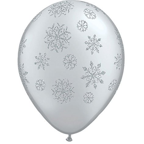 11 inch glitter snowflake balloon decorations winter party