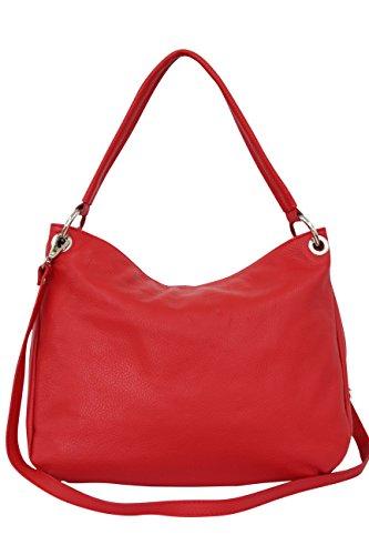 Moda en Rouge Sac véritable GL002 cuir Sac Shopper à Ambra main bandoulière awqdZIag