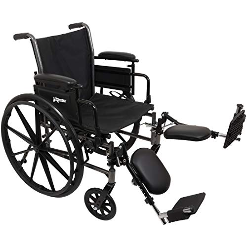 ProBasics Lightweight Wheelchair for Adults - Flip Back Height Adjustable Desk Arms with Elevating Leg Rest - 20