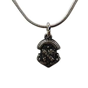 "Sigma Kappa plata de ley escudo collar colgante con cadena de 18"""