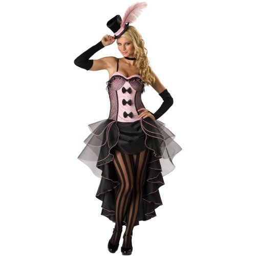InCharacter Costumes Women's Burlesque Babe Adult Costume, Pink/Black, Large -