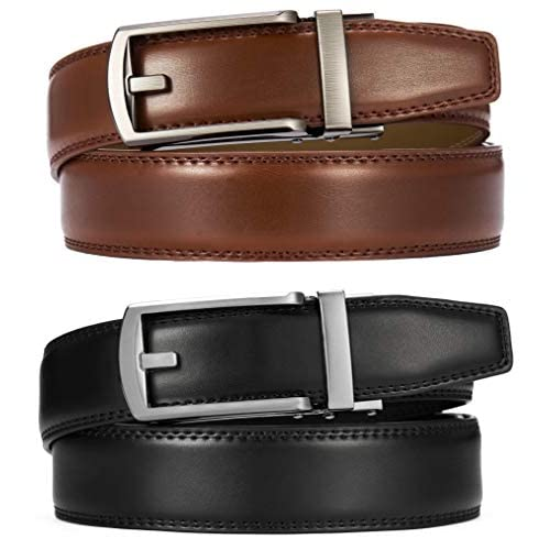 """Size XL 41/""""-45/"""" 1-1//8/"""" Width Black Leather Belt With Buckle"""