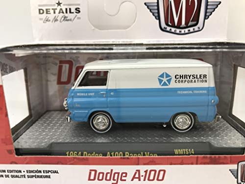 M2 Machines by M2 Collectible Dodge A-100 1964 Dodge A100 Panel Van 1:64 Scale WMTS14 19-18 White/Blue Details Like NO Other! 1 of 7800