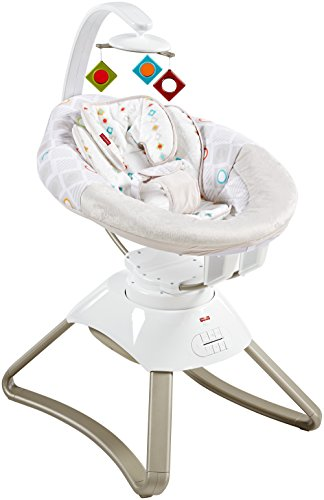 Fisher-Price Soothing Motions Seat, White/Grey