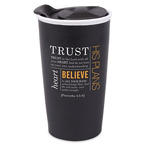 Lighthouse Christian Products 15047 Trust Ceramic Tumbler Mug, Black by Lighthouse Christian Products