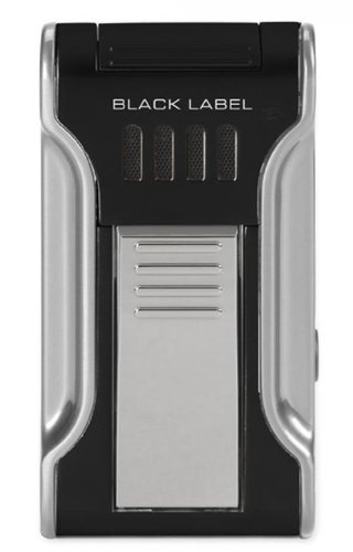 Black Label Dictator Cigar Lighter (Black & Chrome)