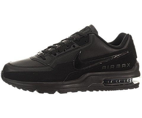 Nike Men's Air Max LTD 3 Running Shoe (12, Black / Black) (Max Leather)