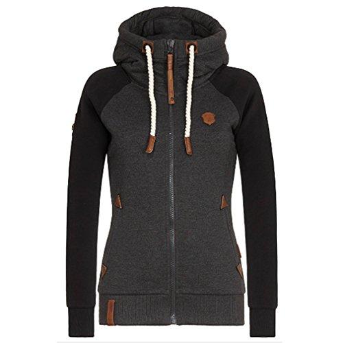 Iumer Womens Soft Zip Up Fleece Hoodie Sweater Jacket Sweatshirts Long Sleeve Hoodies Black