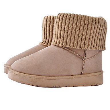 Comfort Boots Blushing Fabric amp;xuezi Grey Heel Black Flat Gll Gray Casual Women's Flat Yellow Winter Pink ZaKtRER