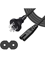 ArtiConnex|™ Figure 8 power cord, 1.2-meter (3.9-foot) long TV power cord, IEC-C7 Appliance Power Cable, fit in with Xbox One S/X consoles, TV, Monitor, Camera, Radio, Power Adapter, shaver, radio, tablet, PS3, PS4 and devices that have the Figure-8 Jacks on