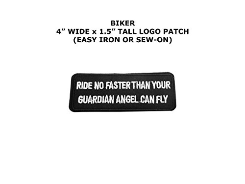 Ride No Faster … Biker Motorcycle Embroidered Iron/Sew-on Club Theme Logo (No Sew Cape)
