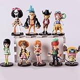9pcs/lot 6-9cm. Anime One Piece Mini Action Figures the Straw Hats Luffy/roronoa/zoro/sanji/chopper Figure Toys