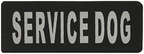 """Dogline Removable VELCRO Patches """"Service Dog"""" Tags Small/Medium from Dogline"""