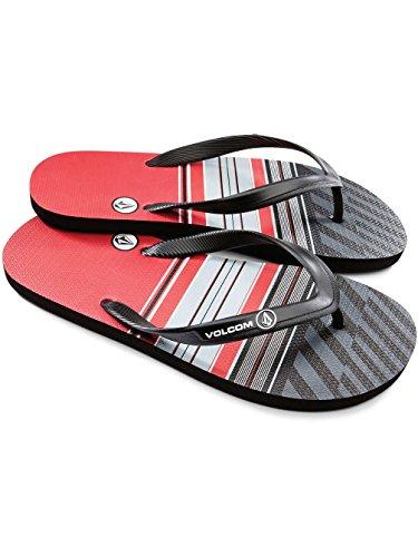 Volcom Uomo Rocker Sandalo Flip Flop Rosso
