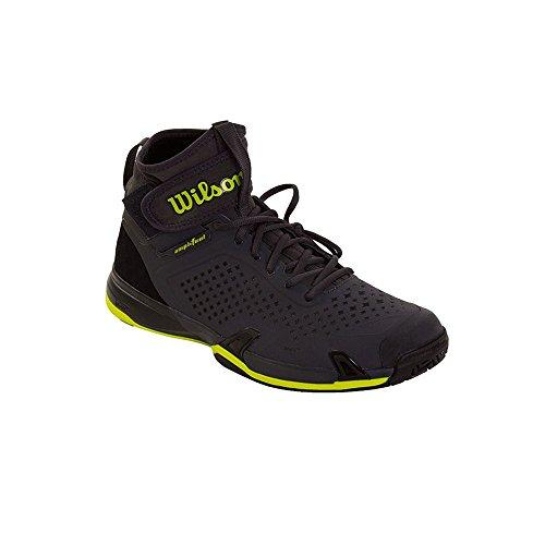 Wilson Wrs322840e100, Scarpe da Tennis Uomo, Grigio (Ebony / Black / Lime Punch), 44 2/3 EU
